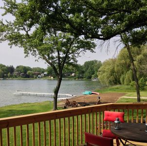 Photo for Beautiful Lakefront compound w/ private beach, next to Powers Lake