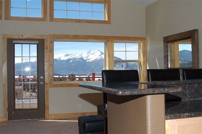 View of Lake & Mountains From Open Living Area
