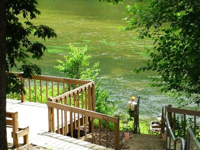 Photo for Riverside Vacation Home WHITE RIVER! by BULL SHOALS DAM & LAKE!