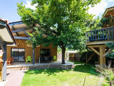 """Photo for Wooden Chalet """"Aloha"""": a real holiday home 5 minutes walk from the lake"""