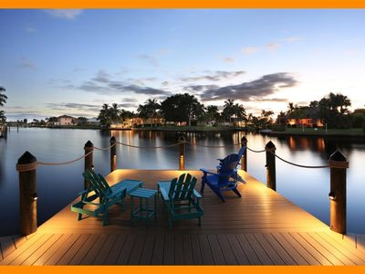 Photo for Cape Coral 220 - Luxury waterfront villa with a private pool and boat dock - Four Bedroom House, Sleeps 8
