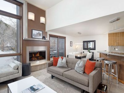 Photo for Luxury Aspen Retreat. 2 Private Balconies, Views, Gas FP, Ski-In/Out, Garage Parking. Walk to Town