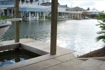 Pirvate dock just steps away from the back door for fishing or kayaking