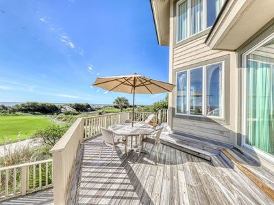 Photo for Gorgeous waterfront home w/ a shared, outdoor pool & tennis - Snowbird friendly!