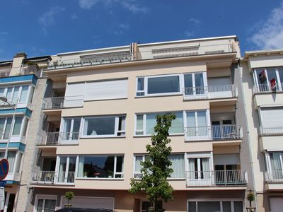 Photo for Sunny renovated apartment in the center of Knokke with garage