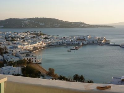 View from Terrace of Mykonos Town