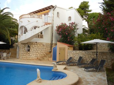 Photo for Buena Vista, top holiday house with pool, sea views, cul de sac, about 850m from the sea.