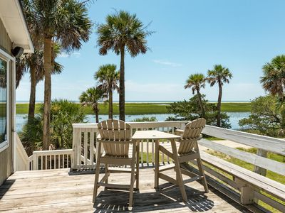 Photo for Gorgeous Secluded Island W/Creeks & Ocean Views w/DOCK!  Pet-friendly/Free Wi-Fi