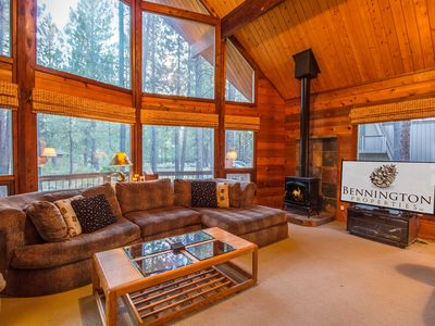 Photo for Sunriver Chalet, Walk to the Village! Bikes, Wood Fireplace, Hot Tub - WOOD02