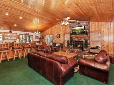Photo for Mountain Spirit: Cozy Mountain Retreat! Close to Snow Summit! Large Fenced Yard! Foosball Table!