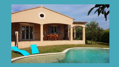 Photo for Villa with private pool, quiet and not overlooked near Avignon