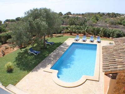 Photo for Beautiful, quiet Seascape Cottage, 6-7 persons, pool in Cala S`Almonia, close to beach