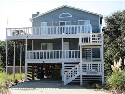 two story beach house with living area on top floor