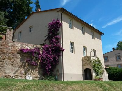 Photo for Top-Hill Farm-House in Pictureque Tuscan Village with Stunning Views.