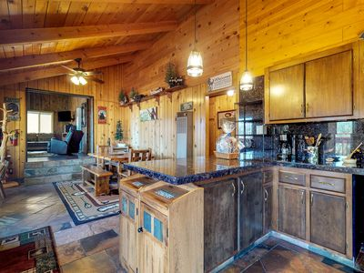 Photo for Upscale cabin with private hot tub, amazing lake views, peaceful location & more