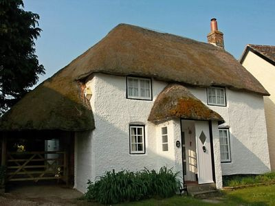 Photo for Gorgeous thatched cottage in Purbeck - ideal for family holidays