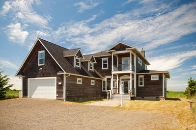 Bloomer Estates Vacation Rentals: Knole House,sleeps 12,  is located on 3 acres of private dunes, with a short private path to the beach