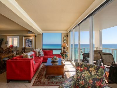 Photo for Breathtaking 3 Bedrm Newly renovated GulfFront Panoramic views, Watch Dolphins