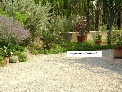 Photo for Cagnes sur mer in villa with garden your studio with terrace and parking