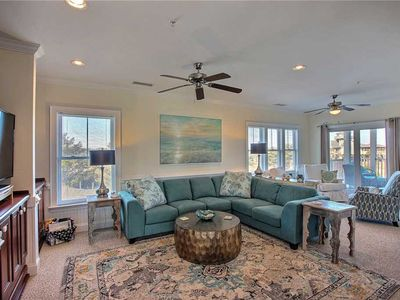 Photo for SemiSoundfront Condo in Hatteras-Elevator, Comm Pool, dock, grill