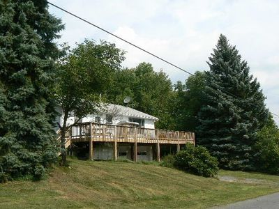 Photo for Catskill Mountain Retreat ---  Great location, Very Private, Hugh Deck, Hot Tub