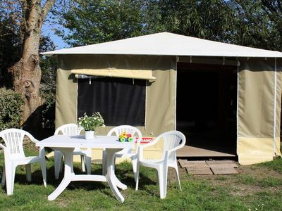 Photo for Camping L'Etang du Pays Blanc *** - Bungalow Caribbean 3 Rooms 4 People