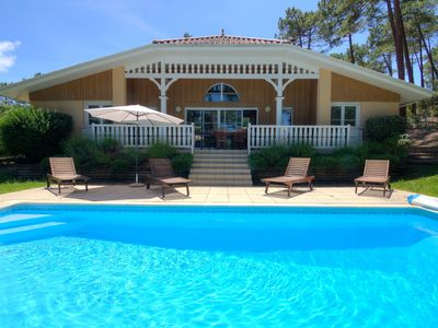 Photo for Wonderful private villa with private pool, hot tub, WIFI, TV, washing machine and parking