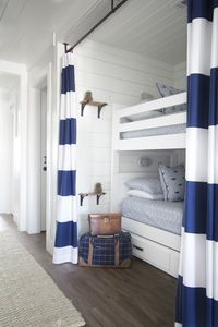 Twin Bunks with Privacy Curtains and Storage below. -Azul 30A