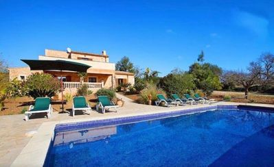 Photo for Beautiful Villa in Cas Concos with swimming pool, AC and WIFI