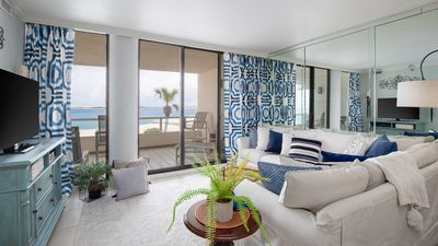 Photo for COVID-Clean! Gorgeous condo directly on the Beach! Panoramic Gulf Views!