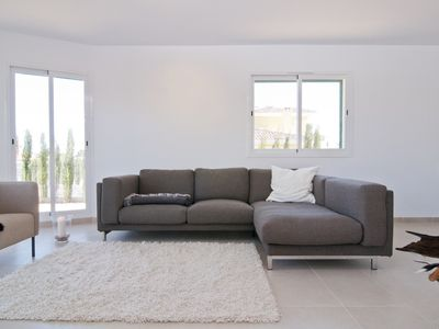 Photo for Modern, Mallorca chalet for 4 -5 persons in sea with swimming pool, air conditioning, WiFi