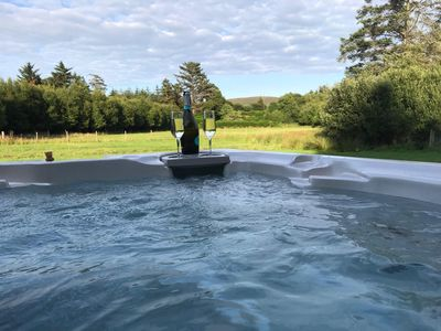Hydropool Jacuzzi looking over the Deer Paddock