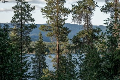 Peak a boo views of Lake Wenatchee atop your owner private mountain retreat