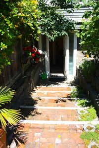 The private garden entrance to the sweetest of spaces....!