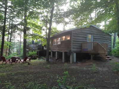 Full overall view of exterior of 3 bedroom Lookout cottage.