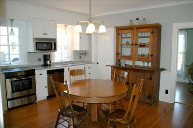Gather in a true farm kitchen with the conveniences of a modern home.