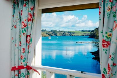 Stunning views down the estuary from one of the bedrooms (all have this view)