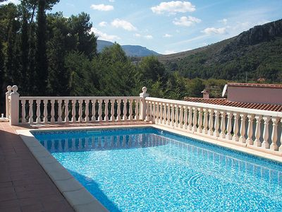 Photo for STUNNING HILLSIDE POSITION WITH PRIVATE POOL AND TERRACED GARDEN - UK TV and WIF