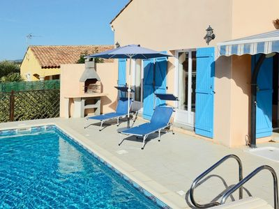 Photo for Pézenas Villa. AirCon in Bedrooms, Easy Walk to Town, Low Chlorine Private Pool.