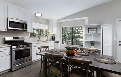 Open concept dining room and kitchen