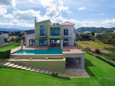 Photo for Sea Views Luxury Villa Pasiphae with Private Pool, 500m from the Beach