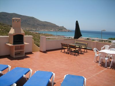 Photo for Luxury 3 bed 2 bath Upper apartment with huge solarium and magnificent views