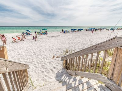 Photo for Beachfront Location! Blue Mountain Villas 1 Bedroom Gulf Front - Book NOW!