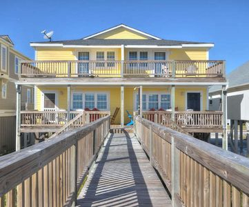 Photo for Beautiful Ocean Front Duplex with 4 bedrooms, 3 baths.  Rent both sides and spread out in 8 bedrooms, 6 baths to accommodate up to 24 people!