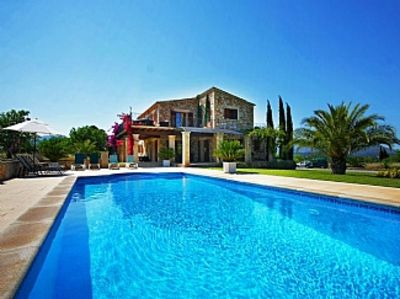 Photo for Beautiful Family Friendly 4 Bedroom en-suite villa Large Pool WIFI BBQ Air-Con