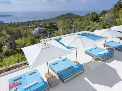 Photo for Villa Patrice. Spectacular sunset views of Ibiza.
