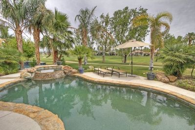 Pebble Tec Pool and Spa, Lounge Chairs, Umbrellas, Grass Yard, 2nd fairway