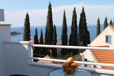 Lovely balcony with sea view
