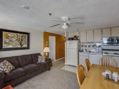 Photo for Sale!Free parking, Wifi and Hot Tub*,Sleeps 8: ML#384; 2 BR/2BA, Ski in/Out