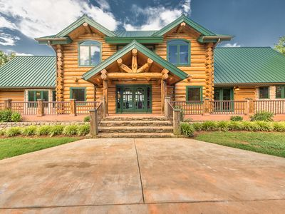 Photo for THE LODGE! Best views on the Lake! Amazing Log Cabin | Expansive Water Views | Sleeps 22